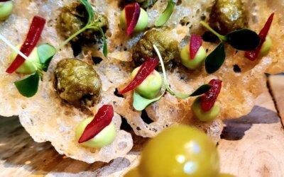 Aceitunas Manzanilla en tempura con cítricos